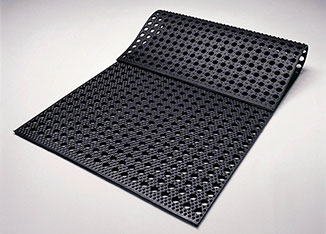 KRAIBURG Diamond perforated rubber mat in 1985