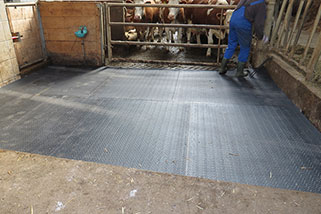 the top cover is now positioned right in the calving pen