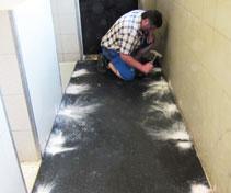 Parlour renovation - fasten rubber mats