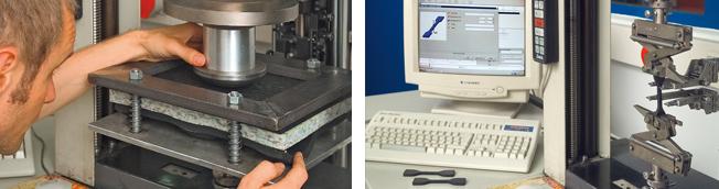 KRAIBURG quality testing in the laboratory