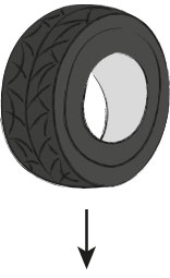 The tyre delivers the raw material for KRAIBURG rubber