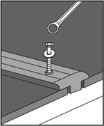 fasten screws: step 3 when fastening KRAIBURG rubber floorings