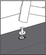pound in nails: step 3 when fastening KRAIBURG rubber floorings