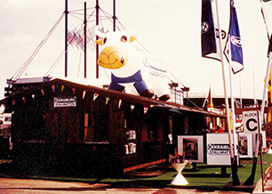 "KRAIBURG´s first own booth at the ""DLG"" exhibition in 1984"
