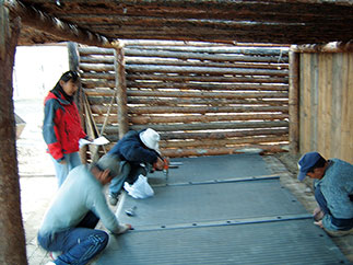 dairy cow cubicle house in Mongolia: here, the KRAIBURG cubicle mats made of rubber work very well at extremely cold temperatures