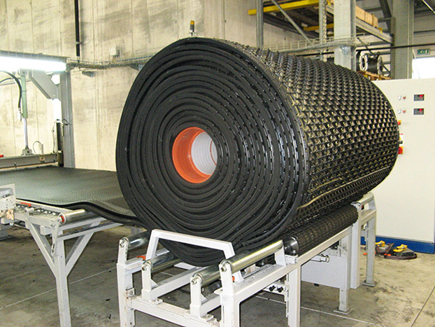 KRAIBURG LongLine-production line (lying mats as continous rolls)