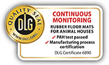 """DLG test seal """"continuously monitored"""": PAH test passed and manufacturing process certification for KRAIBURG rubber floorings for animal houses"""