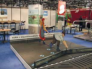 KRAIBURG KURA mats at the EuroTier booth 2002