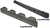 brisket boards made of rubber KRAIBURG ergoBOARD and maxiBOARD