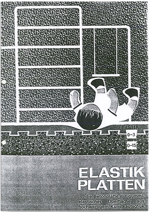KRAIBURG elastic impact protection slabs brochure of 1968
