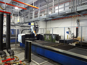 water jet cutting units at KRAIBURG
